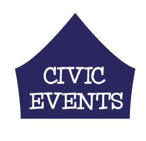 CIVIC EVENTS LOGO BLUE